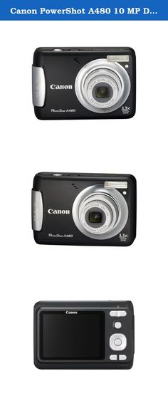 Canon PowerShot A480 10 MP Digital Camera with 3.3x Optical Zoom and 2.5-inch LCD (Black). With its streamlined silhouette and smoothly curved edges, the Canon PowerShot A480 has the compact sophistication and relaxed simplicity that make it a natural for beginners and everyone else who craves style and convenience. The 10.0-megapixel resolution and 3.3x optical zoom make it easy to capture the action in dazzling color and brilliant detail. The DIGIC III Image Processor keeps it all…