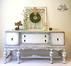 white buffet - painted buffet - painted furniture