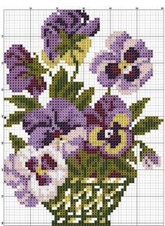 Etamin Çiçek Deseni Şablonları (28)