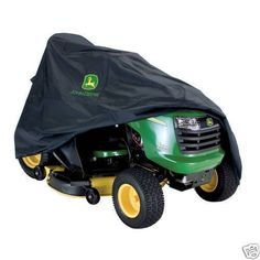 Protect your John Deere ride on mower against wear and tear with this genuine ride on mower cover; Dual reinforced air vents let air circulate and help prevent ballooning in the wind. John Deere Genuine Ride On Mower Cover. John Deere Riding Mowers, John Deere Lawn Mower, Garden Tool Bag, Garden Tools, Plant Theatre, Yard Water Fountains, John Deere Equipment, Cool Stuff, Organizer