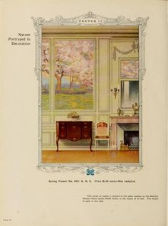 Nature Portrayed in Decoration :: Home decoration, 1917 / Alfred Peats Co.