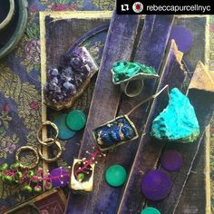 Another #beautiful #styling of my #rings by the #fabulous @rebeccapurcellnyc  #lux #couture #fashion #object #madeinnyc #couturefashion #velvet #papal #malachite #minerals #oneofakindjewelry #artisanjewelry #noappology #noble #luxury
