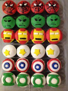 Superheros Cupcakes Quecos súper héroes