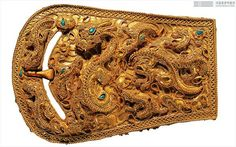 Buckle. Gold, L 9.4cm. 1st century. Nangnang Commandery, Seogam-ri Tomb No.9, Korea. National Treasure No. 89 #KoreanDecorativeArt