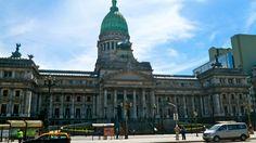 El Congreso Nacional, Buenos Aires, Argentina.