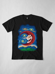 """Hilda Berg - Starry Night"" T-shirt by Remus Brailoiu Cartoon Fan, My T Shirt, Tshirt Colors, Wardrobe Staples, Female Models, Cool T Shirts, Chiffon Tops, Video Game, Classic T Shirts"