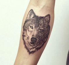 wolf face tattoo, wolf tattoo, wolf head tattoos
