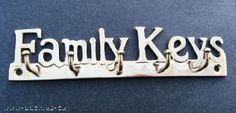BRASS FAMILY KEYS KEY RACK HOLDER
