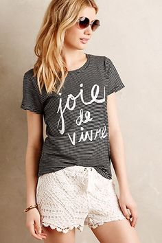I don't even speak French, yet I'm apparently obsessed with French shirts. Joie de Vivre Tee #anthropologie
