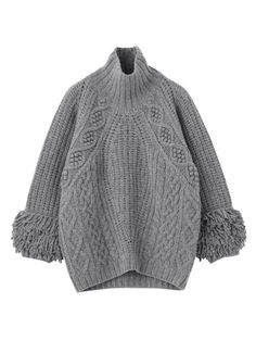 CABLE BIRD KNITTED SWEATER