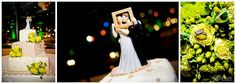 Wedding cake topper and wedding rings