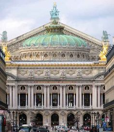 Palais Garnier, Paris, France's opera house, was built from 1861 to 1875. It is considered the world's most famous opera house and a superior example of beaux-arts design. It's features include a ceiling painted by the artist, Marc Chagall in 1964 with the grand chandelier at the center; Baroque detailing throughout; and the magnificent Grand Foyer.