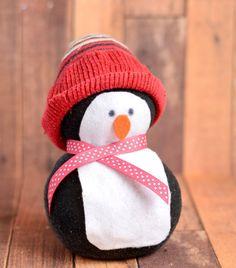 No-Sew Sock Penguin Craft | The Art 123
