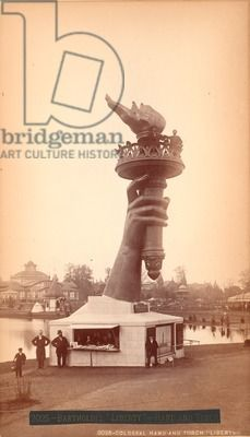 Hand and torch of the Statue of Liberty, c.1876 (albumen print) / Free Library of Philadelphia