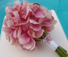 pink orchid bouquet | using bouquet bouquets since i first big diy cascading orchid