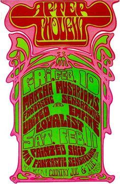 2/10/1966 .... Martha and the Mushrooms poster  ......  artist .... BOB MASSE