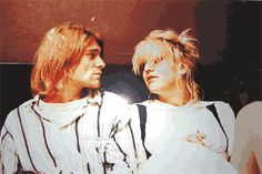 Kurt and Courtney Courtney Love Hole, Kurt And Courtney, Most Beautiful Man, Beautiful People, Grunge, Donald Cobain, Nirvana Kurt Cobain, Riot Grrrl, Dave Grohl