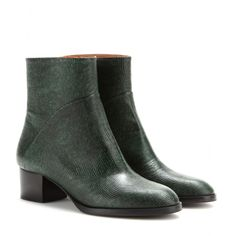 Embossed-leather ankle boots, Dries van Noten