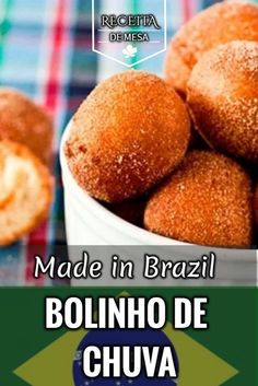 O melhor bolinho de chuva do mundo é brasileiro. Click na imagem e faça