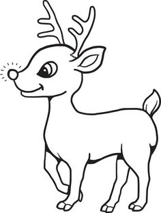 Baby Reindeer Coloring Page Make your world more colorful with free printable coloring pages from italks. Our free coloring pages for adults and kids. Rudolph Coloring Pages, Deer Coloring Pages, Christmas Coloring Sheets, Printable Christmas Coloring Pages, Free Printable Coloring Pages, Coloring Pages For Kids, Coloring Books, Kids Coloring, Fairy Coloring