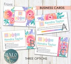 Fashion consultant,LLR,Business cards,LLR Business Cards - FLORAL Business card, pink flowers