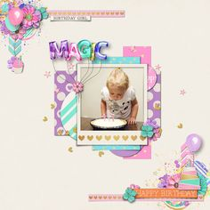 Made with Studio Flergs and Amber Shaw's Magical Birthday Girl Collection.