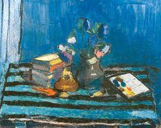 Alexandru Ciucurencu - Natură moartă Post Impressionism, Impressionist, Frasier Crane, Bucharest, Painting & Drawing, Still Life, Objects, Drawings, Painters