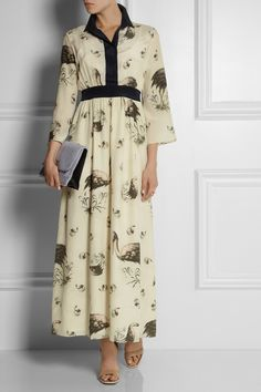 Suno | Printed silk dress | NET-A-PORTER.COM