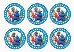 Trolls Holiday – Cupcake Toppers – Birthday Printable