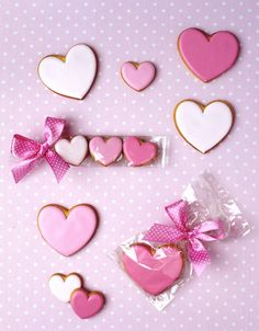Pink heart cookies.  So simple, but so beautiful.
