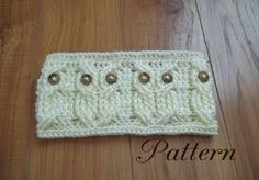 Crochet PATTERN-Its a Hoot,  An Owl Headband and Earwarmer. $4.99, via Etsy.  Kim, this is just like that owl sweater!