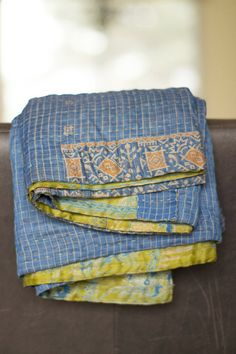 Water Silk Kantha Throw from Dignify