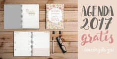 Free Planner 2017 (in Spanish) To Do Planner, 2017 Planner, Agenda Planner, Free Planner, Weekly Planner, Happy Planner, Planner Ideas, Planners, Diy Agenda