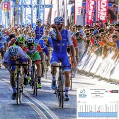 Fernando Gaviria (Quick Step) wins the 4th stage of the Vuelta Ciclista a la Provincia de San Juan (2.1) just before Elia Viviani