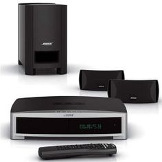 Bose 321 Series III DVD Home Entertainment System (Discontinued by Manufacturer) Bose Home Theater, Home Theatre Sound, Surround Sound Systems, Video Home, Entertainment System, Entertaining, Studio Ideas, Speakers, Man Cave