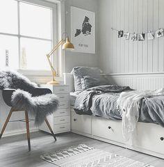 Teenage room decor, bedroom decor teen, cute teen bedrooms, teen be Bedroom Themes, Room Decor Bedroom, Bedroom Furniture, Cozy Bedroom, Kids Furniture, House Furniture, Bedroom Bed, White Furniture, Teen Bedroom Decorations