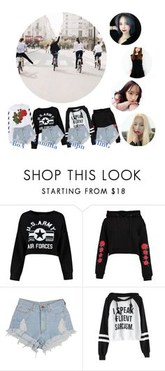 """4DOLLS // Never // Together scene"" by official-4dolls ❤ liked on Polyvore featuring Boohoo and Off-White"