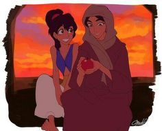 Aladdin and jasmine Gender Bender   wouldn't that be interesting