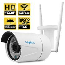 Wireless IP Camera ,Reolink 4-Megapixel 1440P Wireless Security 2.4G/5.8G Dual…