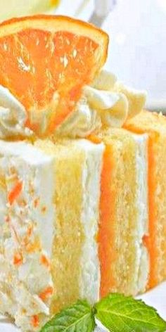 1 Pkg Yellow Cake Mix 2 Pks Orange JELL-O 1 Pk Vanilla Instant Pudding 1 Cup Milk 2 Tsp Vanilla 1 Tub Cool Whip   Bake the cake as directed in a pan. Let cake cool completely. Poke holes in Just Desserts, Delicious Desserts, Yummy Food, Orange Creamsicle Cake Recipe, Cake Recipes, Dessert Recipes, Dessert Food, Yummy Recipes, Recipies