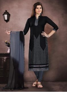 Buy indian salwar kameez online with the finest collection of indian salwar suit. Order this mystical chanderi churidar salwar kameez for casual and festival - Salwar Suits Pakistani, Latest Salwar Kameez, Cotton Salwar Kameez, Churidar Suits, Indian Salwar Kameez, Patiala, Salwar Suits Simple, Salwar Kameez Online Shopping, Salwar Suits Party Wear