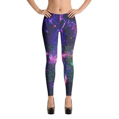 Science Periodic table galaxy cyber Leggings