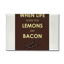 Lemons to Bacon Rectangle Magnet