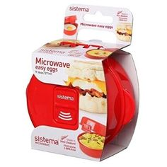 Sistema Microwave Cookware Easy Eggs, Red, ml – Online Cooking Store Microwave Omelet, Microwave Egg Poacher, Microwave Cookware, Food Bowl, Cooking Stores, Egg Dish, Soup Mugs, Noodle Bowls, Micro Onde
