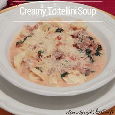 SO easy and delicious. I love tortellini soup, but the cream cheese really kicks this one up a notch.