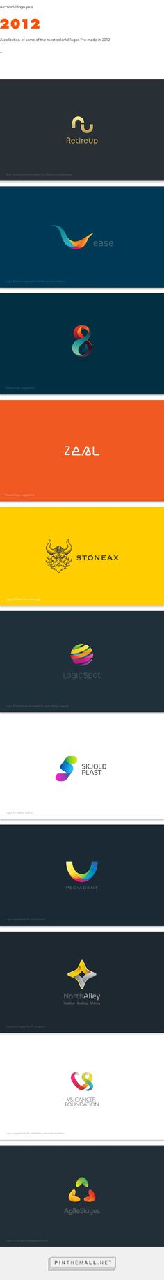 A colorful logo year 2012 on Behance - created via https://pinthemall.net
