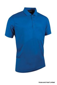 Performance Pique Plain Polo Shirt 100 performance polyester pique solid colour Moisture wicking breathable and quick drying Glenmuir 1891 logo on right sleeve.