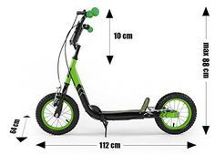 Scooter MILLY MALLY Crazy Extreme Green - Baby Scooter - Roller - Patinete…