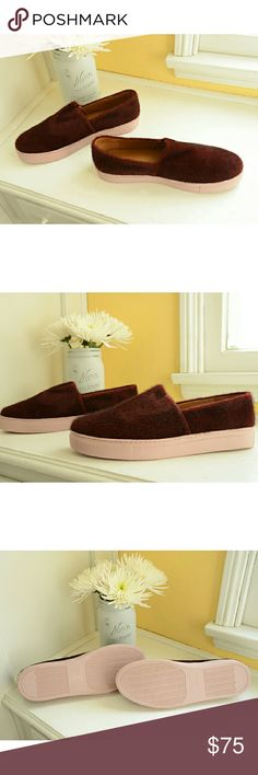 Clover Canyon Pony-Hair Burgundy Loafers These are super stylish, and I apologize to my animal-loving friends that they feature pony hair. They are burgundy, with leather lining and eraser-pink rubber soles. Brand new in box. Enjoy! :) Clover Canyon Shoes Flats & Loafers