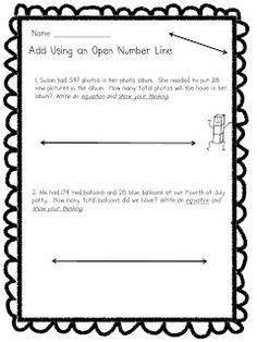 Classroom Freebies Too: Adding and Subtracting Using Open Number Lines Teaching Addition, Math Addition, Open Number Line, Number Lines, Classroom Freebies, Classroom Ideas, Teacher Freebies, Future Classroom, Second Grade Math